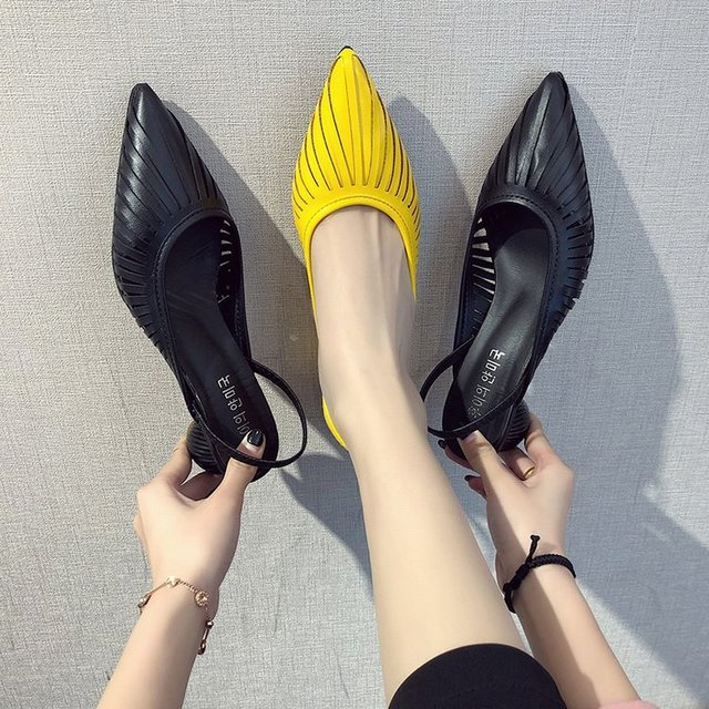 Xgravité talons anormaux talon dété conception étrange sandales à talons hauts mode femmes chaussures grosses bout pointu pantoufles dame B047