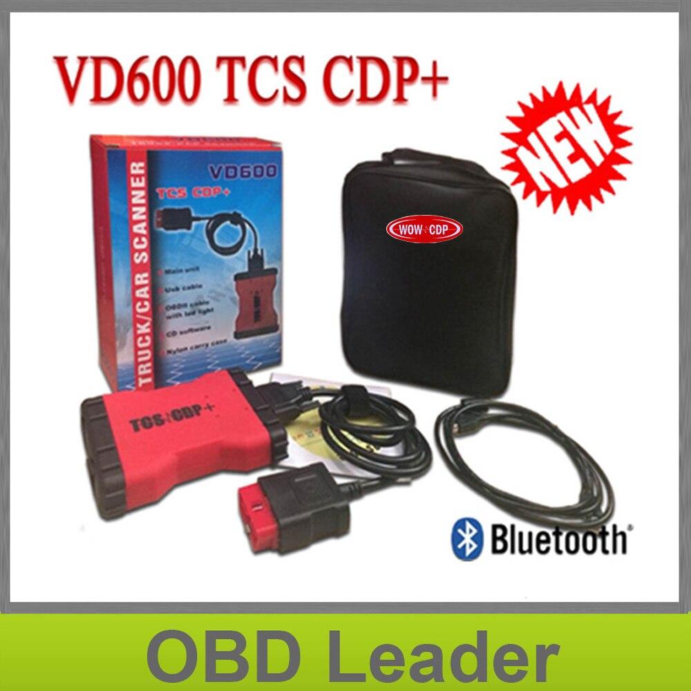 Цена за VD600 VD TCS CDP Pro Plus с Bluetooth для легковых и грузовых автомобилей OBD2 OBDII инструмент диагностики как multidiag Pro WOW snooper в наличии