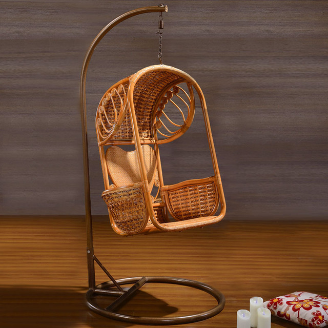 High quality Indoor nature rattan hanging basket chair swing hanging     High quality Indoor nature rattan hanging basket chair swing hanging chair  with stand 6032