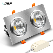 [DBF]Double Head Square LED Downlight Dimmable 10W 14W 18W 24W 30W Ceiling Spot Light Bedroom Living room Kitchen Decoration