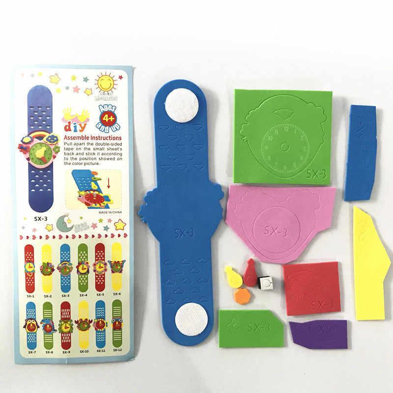 Happyxuan 12 вариантов дизайна DIY 3D EVA пена ремесло стикер часы ручной работы часы обучения детей детский сад образовательные игры новые игрушки 2019