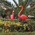 1 par novo plástico brilhante flamingo jardim decoração fonte do jardim quintal gramado e cerimônia de casamento ornamento da arte 4 cores