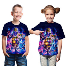цены Summer Tees Boy T Shirt Kids Clothing Avengers Endgame Quantum Realm Boys Short Sleeve Clothes Baby Children Boys Marvel T Shirt