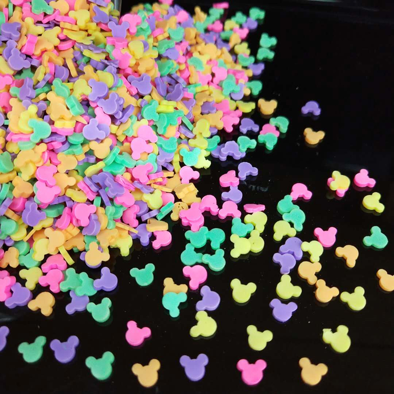20g/lot Mouse Polymer Hot Soft Clay Sprinkles Colorful Animal Tiny Cute plastic klei Mud Particles Multicolors(China)