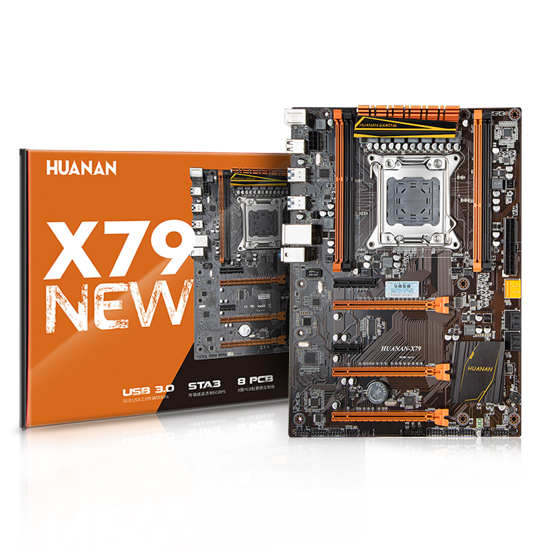 Huanan X79 материнской Золотой Ver 13 LGA 2011 ATX USB3.0 SATA3 pci-e NVME поддержка 4*16 г ECC Reg памяти и Xeon E5 процессор