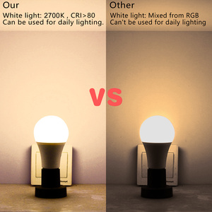 Image 4 - E27 led 16 色の変更 rgb マジック led 電球 5/10/15 ワット 85 265 v rgb led ランプスポットライト + 赤外線リモコン led 電球家庭用