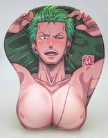 free ship ,famous 3d mouse pad ,Animation silica gel wrister mousepad,Cartoon character mouse pad,mouse for Roronoa Zoro