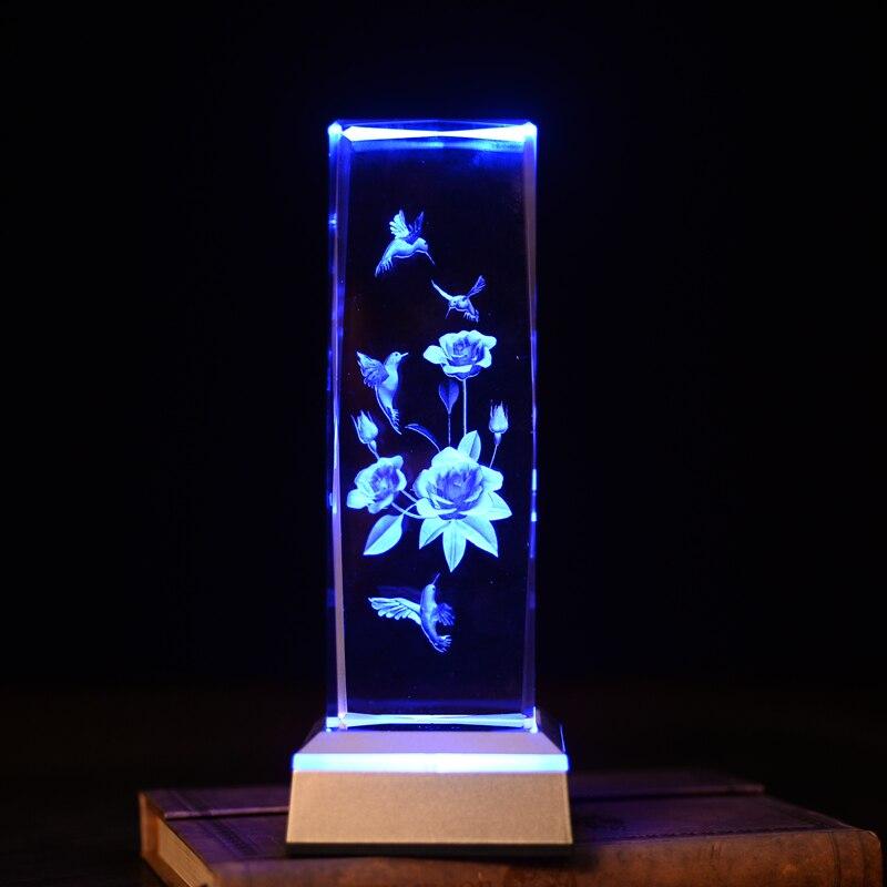 WoodPecker ziedu lāzers galda lampās Amazing 3D Night Light Baby - Nakts gaismas - Foto 5