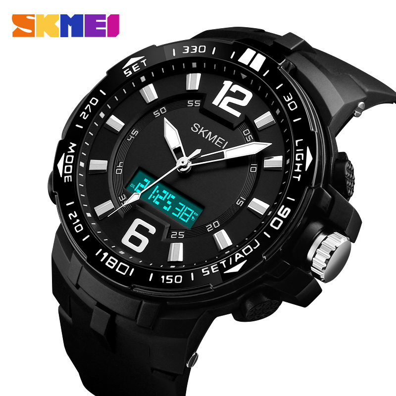 SKMEI Big Dial Men Sports Watches Waterproof Chronograph Out