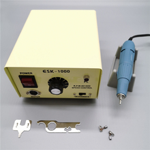 45000 tr/min forte Marathon SDE SH37L M45 micromoteur pièce à main 100W 60000 tr/min ESK1000 boîte de commande électrique perceuse à ongles Kit de Machine