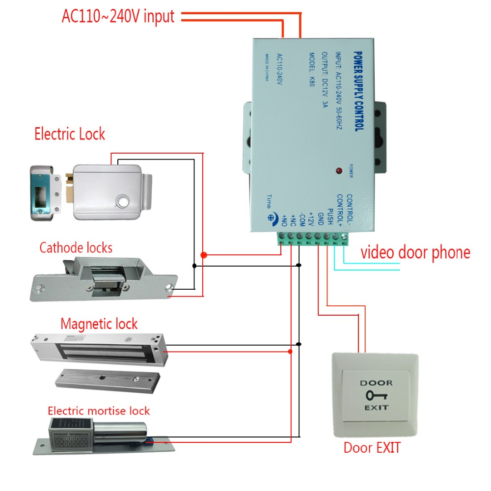 medium resolution of home security 9 inch tft lcd 2 monitor video door phone video intercom system rfid password access doorbell 1 camera door exit in video intercom from