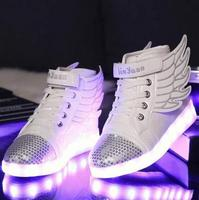 LED Sneakers Kids 2016 Hot Spring Autumn Fashion Luminous Lighted Colorful Lights Children Shoes Casual Flat