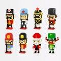 Lindo de la historieta Nano Mini bloques Ladrillos Bloques de Construcción de Juguete Modelo Soldado Británico En Miniatura figura juguetes educativos Regalo de Los Cabritos