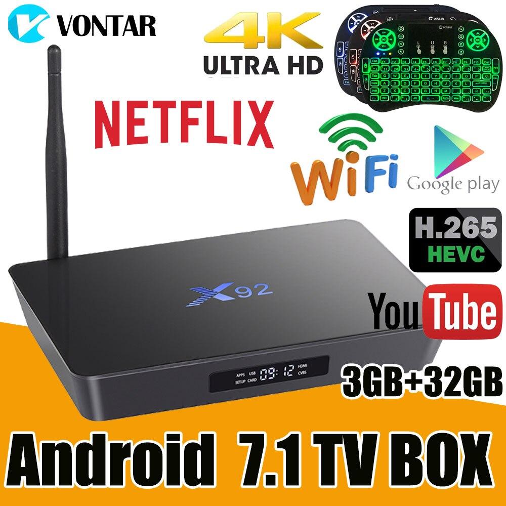 Original X92 2GB/16GB 3GB/32GB Smart Android 7.1 TV Box Amlogic S912 Octa Core 2.4G/5.8G Dual WiFi 4K Media Player Set Top Box 10pcs x92 2gb 16gb 3gb 32gb android 7 1 smart tv box amlogic s912 octa core cpu kd16 1 2 4ghz 5 8g dual wifi 4k media player