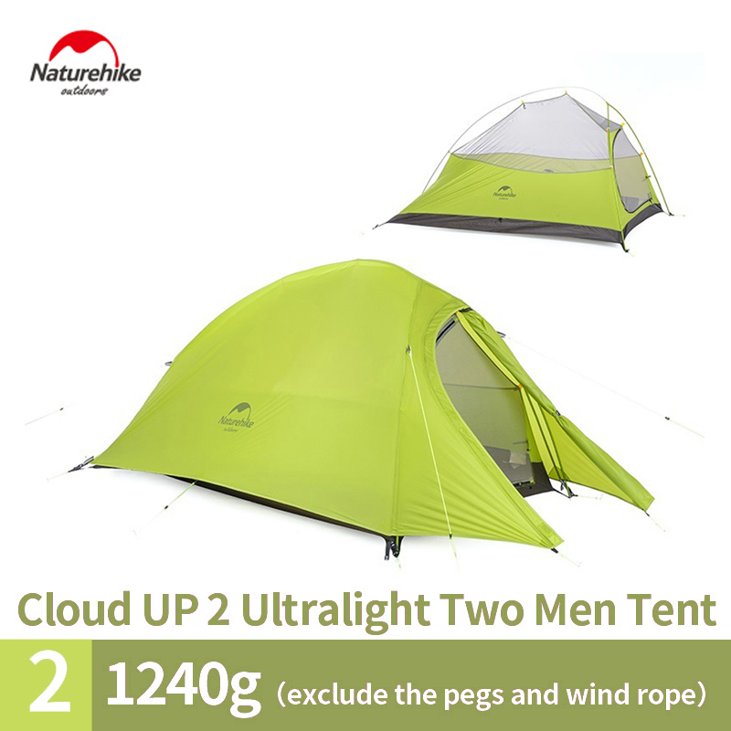Naturehike 2017 New Arrived 2 Person 3 Season Tent 20D Silicone Fabric Double-layer Camping Tent NH Light Tent Free Shipping dhl free shipping naturehike factory sell double person waterproof double layer camping durable gear picnic tent 20d silicone page 3