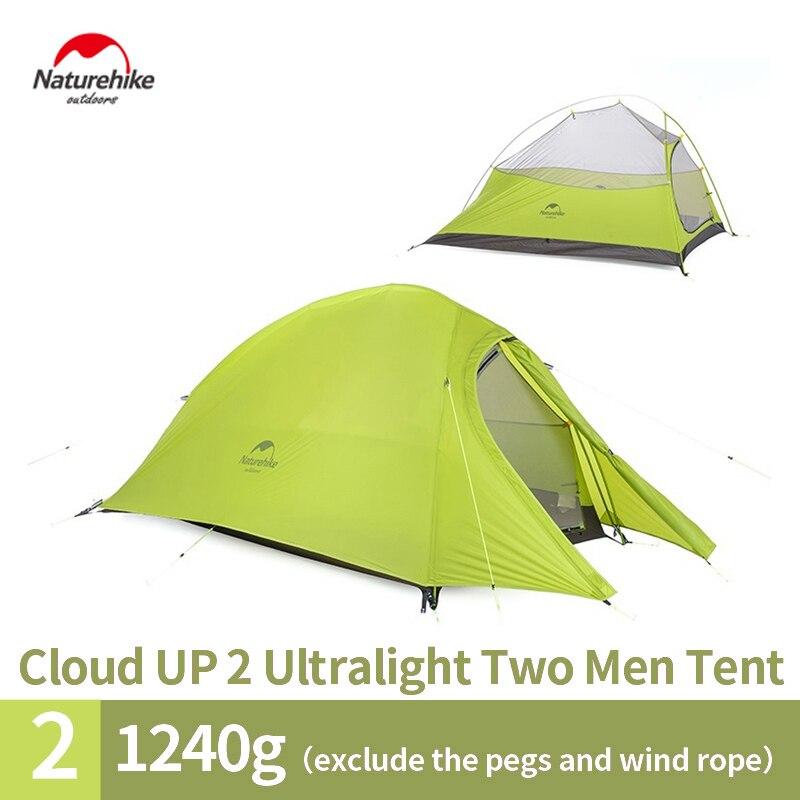 Naturehike 2017 Nouvelle Arrivée 2 Personne Tente 3 Saisons 20D Silicone Tissu Double couche Tente de Camping NH Tente Légère livraison Gratuite