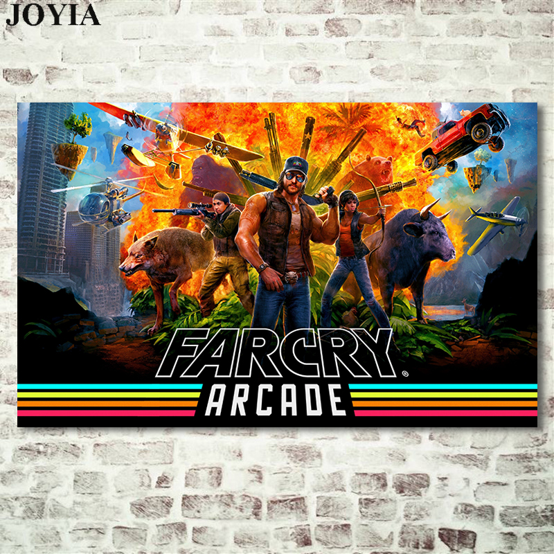 Gaming Poster Far Cry 5 Arcade Games Wall Game Canvas Art With Free Shipping Worldwide Weposters Com