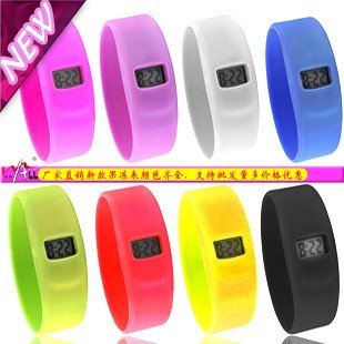 Newest  Anion Silicon Jelly Watches Student Wristwatch Waterproof free shipping 24pcs/lot