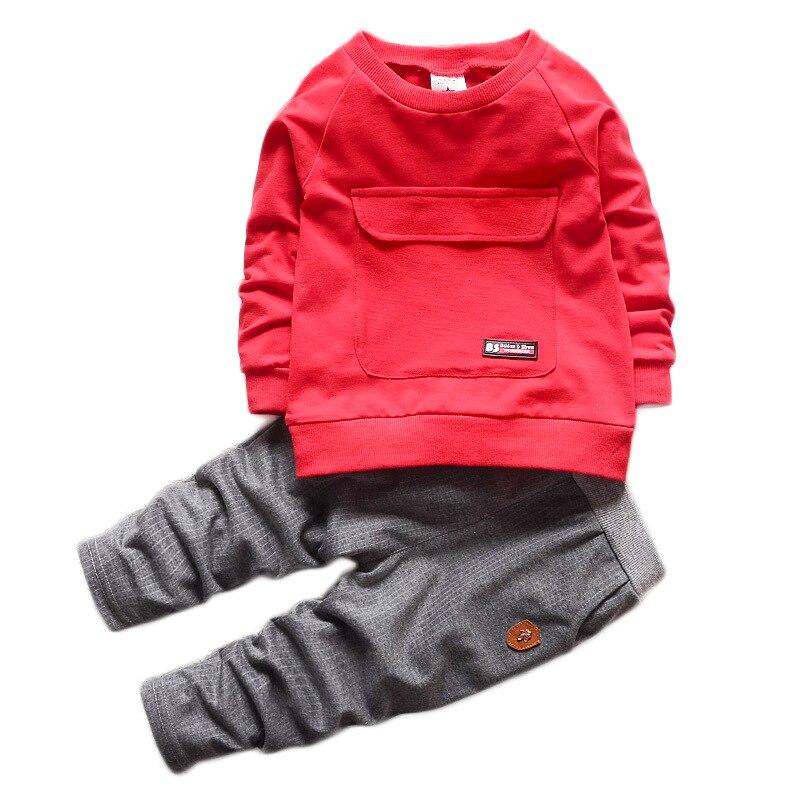 2016 Նոր մանկական հագուստի մանկական հագուստի երկար թև վերնաշապիկ + տաբատ Երեխաների համար տրիկոտաժ տղաների և աղջիկների հագուստի հավաքածու