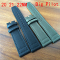 20MM 21MM 22MM Black Army Green Nylon Canvas Watch Strap With IW logo, Retro Men Watchbands For Big Pilot Watch Without  Buckle