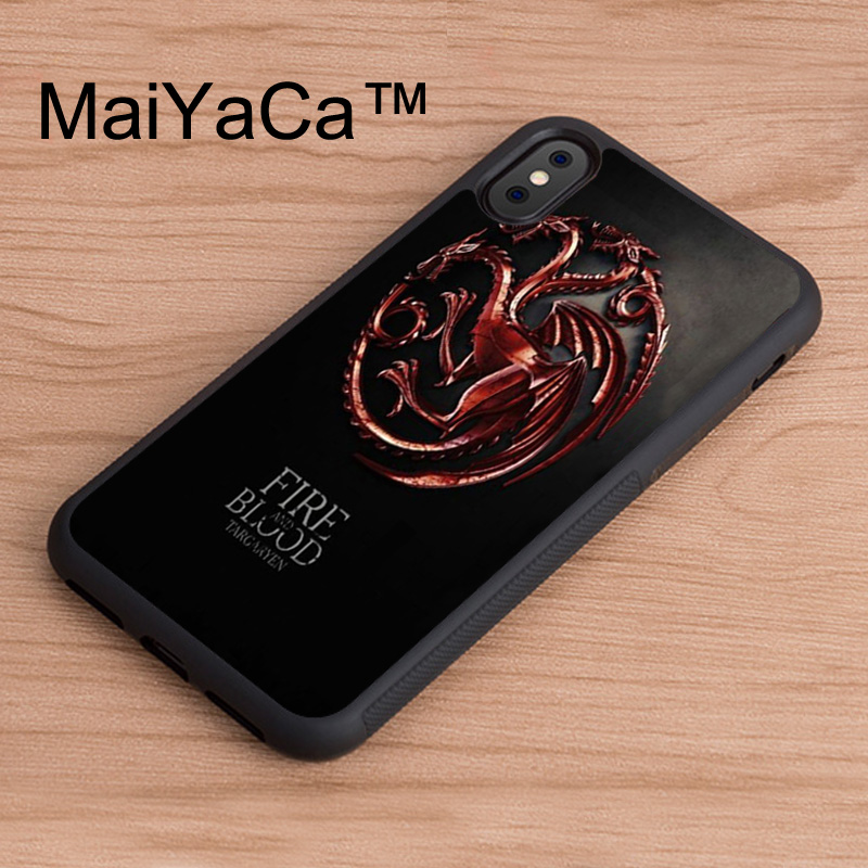 MaiYaCa Game of Throne Fire And Blood Case For iphone X Patterned Full Protective TPU Phone Cases For iPhone X Back Cover
