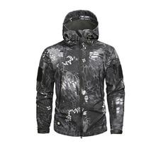 Для Мужчин Армия камуфляжная куртка и пальто военно-тактические зимняя куртка Водонепроницаемый Soft Shell Куртки Ветровка Охота Одежда
