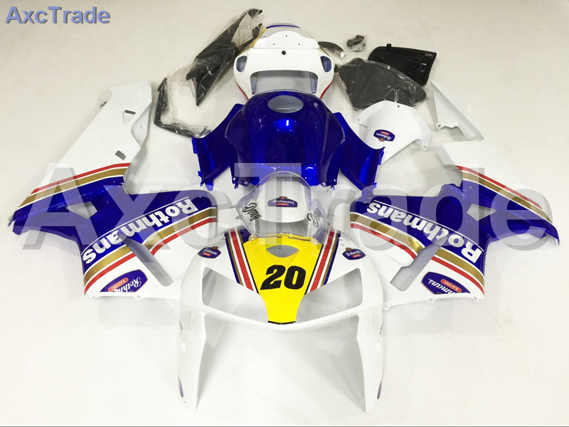 Motorcycle Fairings Kits For Honda CBR600RR CBR600 CBR 600 RR 2005 2006 F5 ABS Plastic Injection Fairing Kit Bodywork White Blue custom made motorcycle fairing kit for honda cbr600rr cbr600 cbr 600 rr 2007 2008 f5 abs fairings kits fairing kit bodywork c99