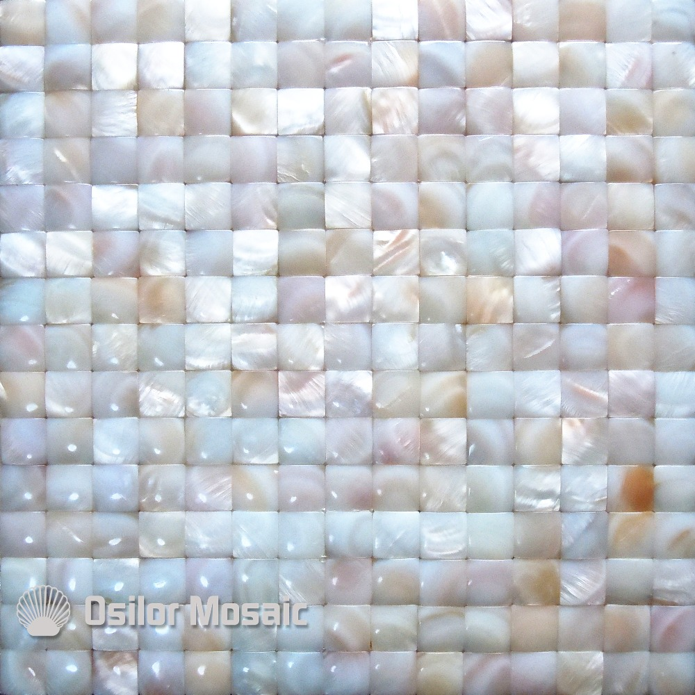 Natural red color Chinese freshwater shell convex seamless mother of pearl mosaic tile for bathroom decoration wall tile environmentally friendly pvc inflatable shell water floating row of a variety of swimming pearl shell swimming ring