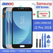 Do Samsung Galaxy J2 Pro 2018 LCD J250 J250F/DS J250F wyświetlacz ekran dotykowy zamiennik digitizera taśma klejąca + narzędzia 100% testowane