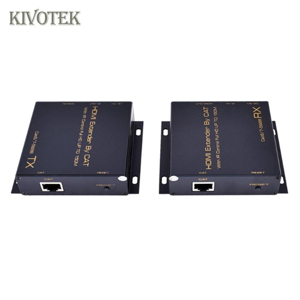 HD1080P HDMI Extender émetteur récepteur adaptateur 150 m tcp/ip simple CAT6/7 câble connecteur 1TX: NRXs pour CCTV DVD STB livraison gratuite