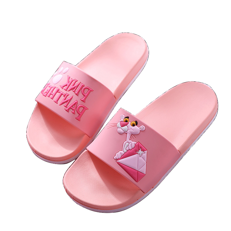 Lovely Women Slippers Summer slippers cute Beach Shoes Pink Leopard Non-slip Beach female flip flops women sandals Shoes slip resistant summer sandals female drag platform female beach slippers flatbottomed women s slippers