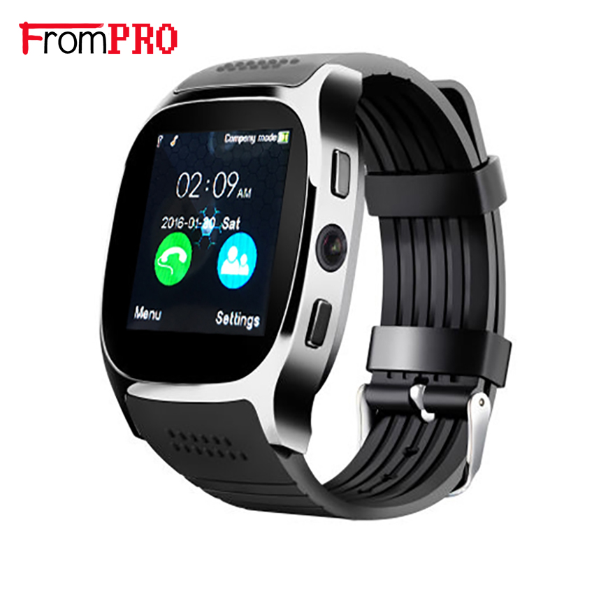 T8 Smart Watch With Camera Music Player Facebook Whatsapp Sync SMS Bluetooth Smartwatch Support