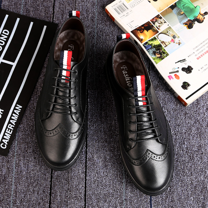 2018 new Men Shoes PU Leather Casual Shoes Fashion Lace Up Shoes Breathable Leather Men Flat Shoes 5 men s leather shoes vintage style casual shoes comfortable lace up flat shoes men footwears size 39 44 pa005m