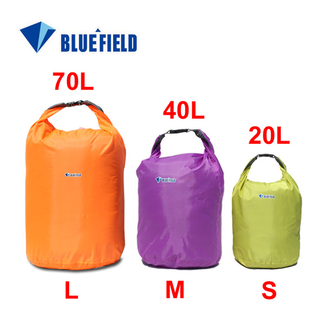 High quality 3pcs/lot 20L 40L 70L Waterproof Dry Bag for Canoe Kayak Rafting Camping outdoor good use free shipping