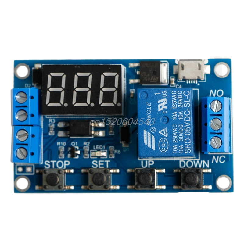 6-30V Relay Module Switch Trigger Time Delay Circuit Timer Cycle Adjustable R06 Drop Ship dc 5 36v dual road mos tube module dc12v 24v trigger cycle timing delay switch circuit for controlling motor lights led etc