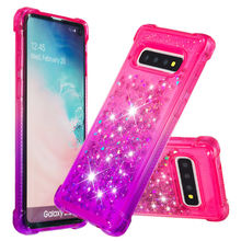 IQD for Galaxy S10E S10 Plus Glitter Case M20 M10 S9 S8 Cover Girls Women Cute Floating Liquid Quicksand TPU Protective Shell A9(China)