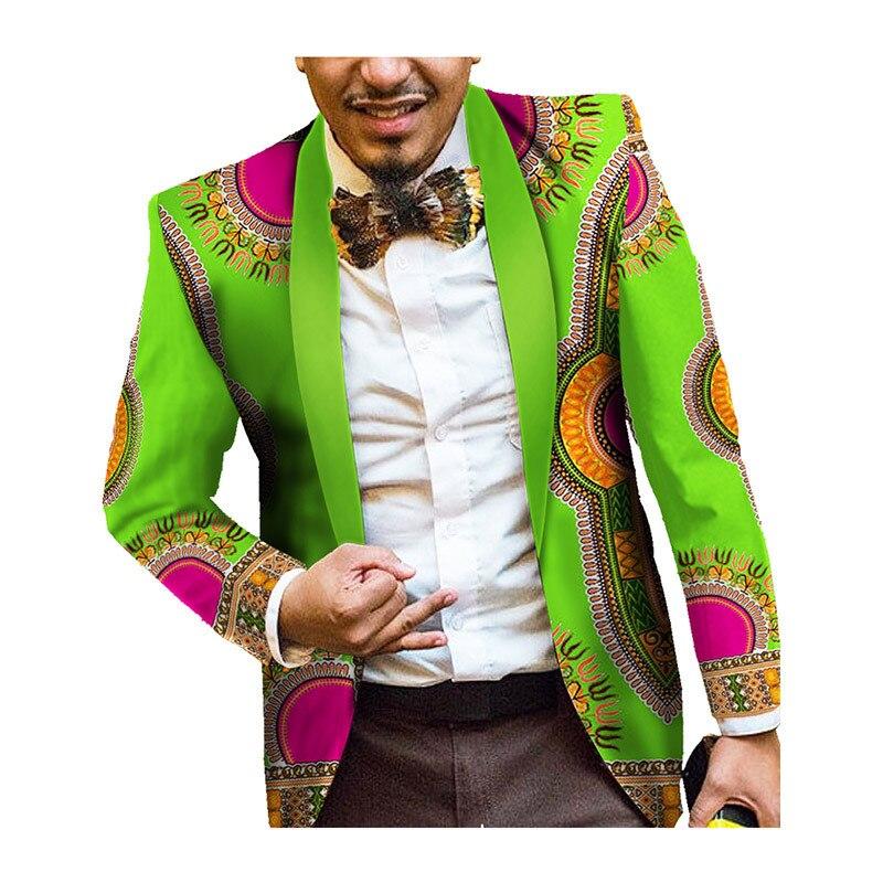 Décontracté vêtements africains imprimer Blazer vestes 2019 à manches longues hommes africains vêtements Slim Fit hommes vêtements africains