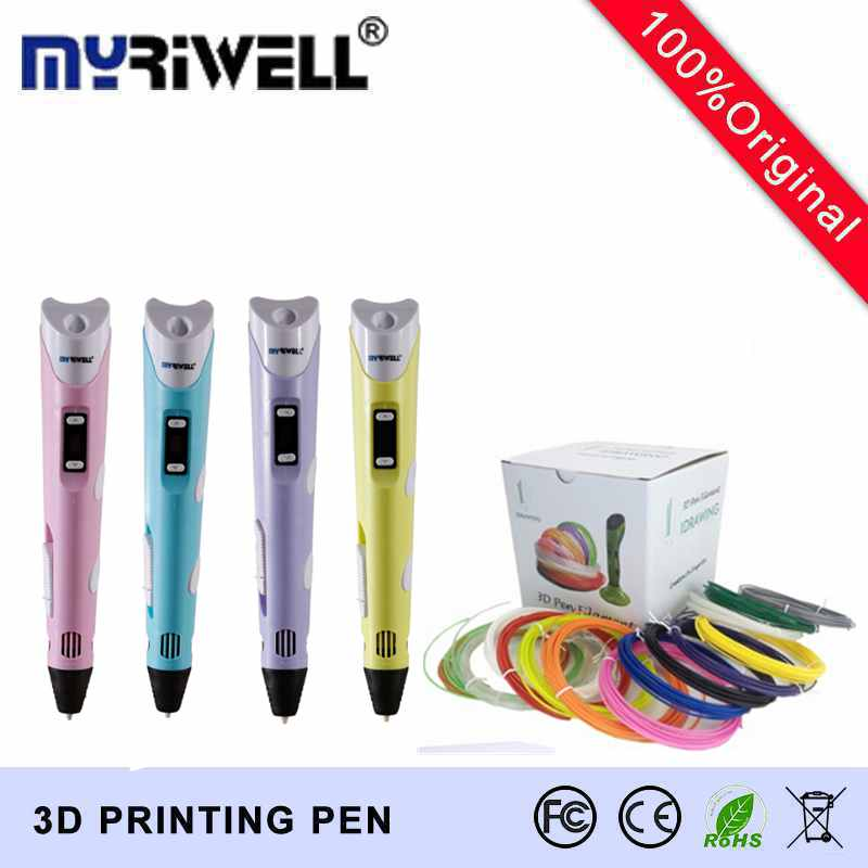 2016 Factory Outlet Myriwell Brand second generation 3d pen Doodle drawing tools With 20 Color 5M