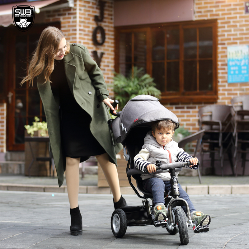 Folding Child Tricycle Baby Bike  Multifunctional baby trolley children tricycle folding baby carriage baby bike 1 3 5 year old child bike baby trolley