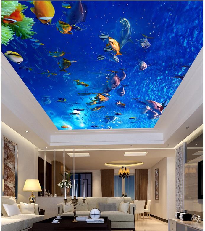 Compare prices on tropical fish wallpapers online for Custom mural cost