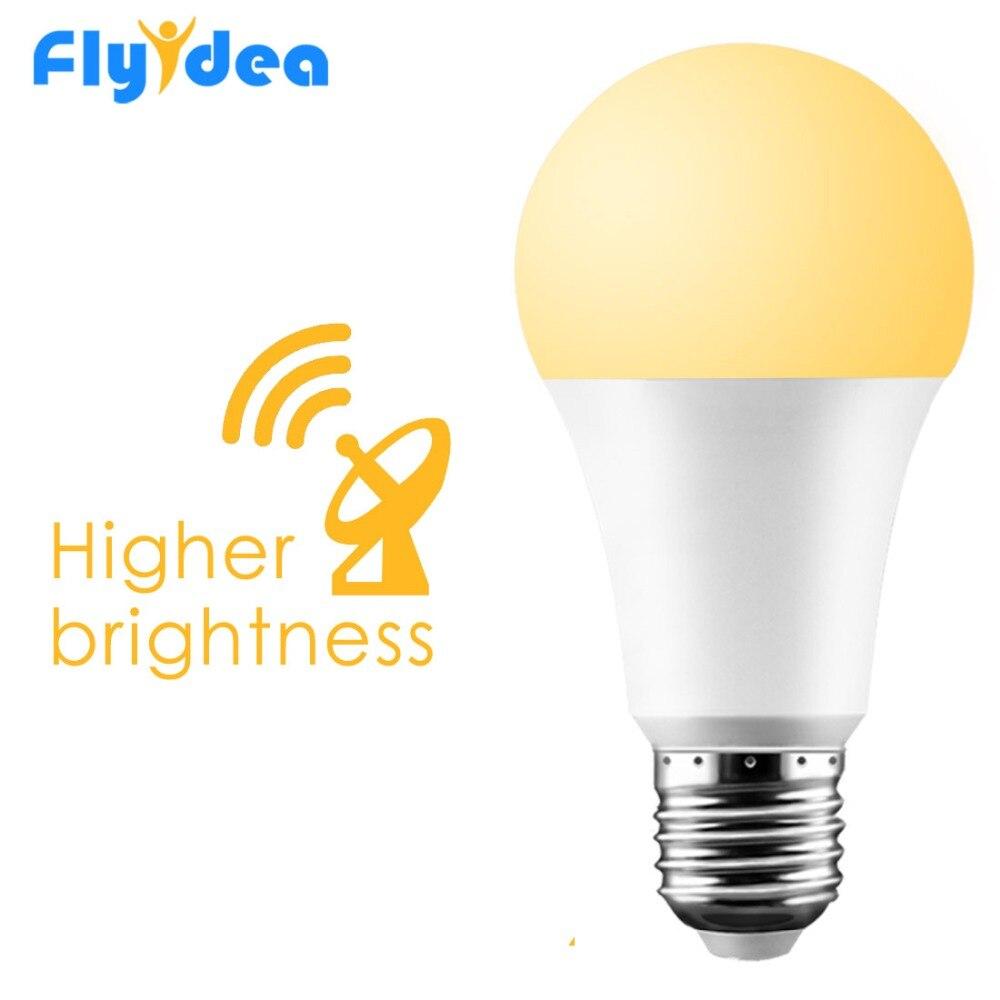 E27 Radar Motion Led Lamp 15W 20W Motion Sensor Light 110V 220V Dusk To Dawn Led Bulb Automatic On/Off For Porch Yard Garage