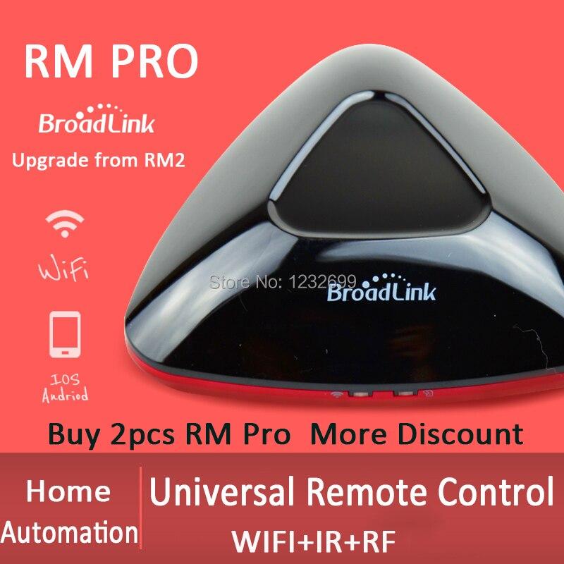 2018 Vendeur 2 pcs Broadlink RM PRO + Télécommande Universelle Contrôleur Smart Domotique WIFI IR RF Commutateur Intelligent IOS Android