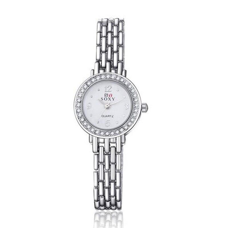New Fashion Luxury Brand Bracelet Watches Women Dress Ladies Rhinestone Quartz Watch relogio feminino AC060