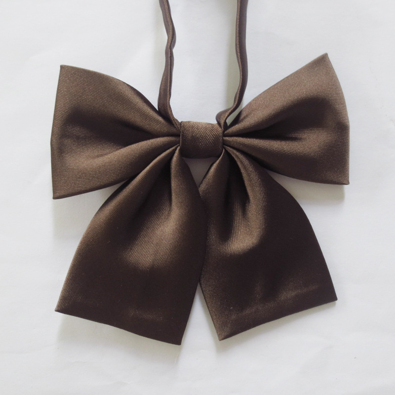 2 PCS LOT New Japanese solid color bow tie sailor uniforms clothes pure color Obscure stripes bow tie Elastic band in Women 39 s Ties amp Handkerchiefs from Apparel Accessories