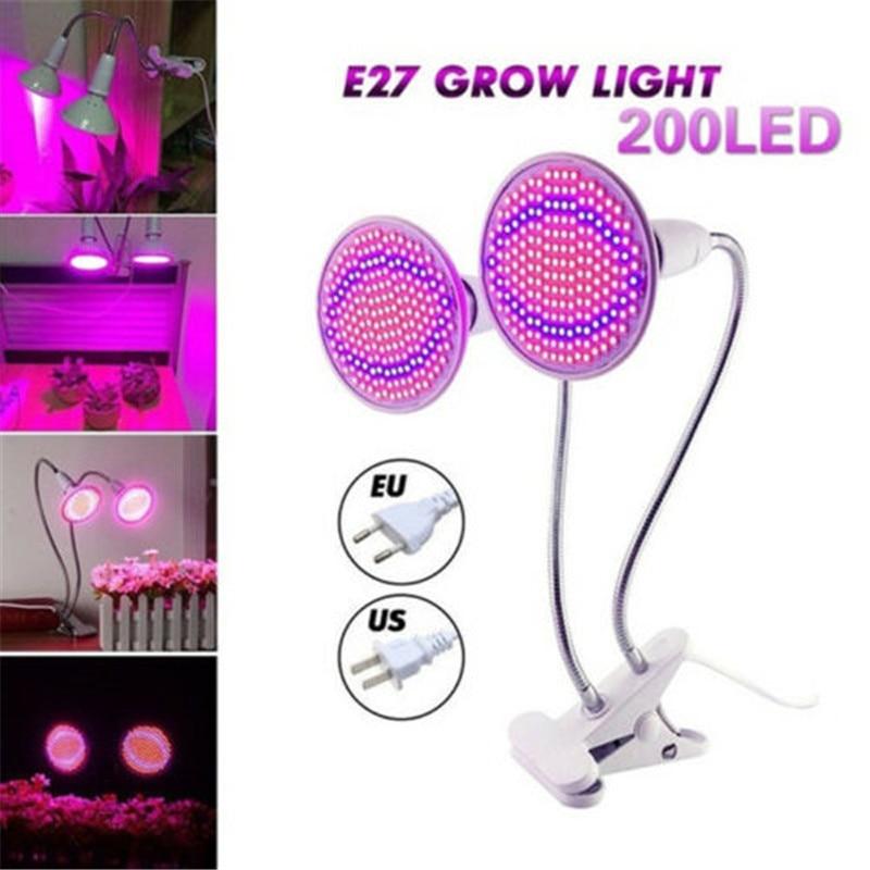 LED Plant Growth Phyto Lamp Desk Clip Holder Sets Full Spectrum LED Lights E27 Bulb For Greenhouse Hydroponic Vegetable Flower