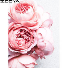 NEW diamond embroidery sale Flowers 5d diy painting full round Pink flowers rhinestone pictures Home decoration RF1957