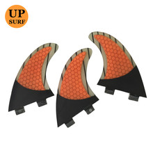 New Design Shark Fin Antenna FCS/Future  G7/G5 Fiberglass Honeycomb Carbon Fiber Orange Fins in Surfing Surfboard Jet