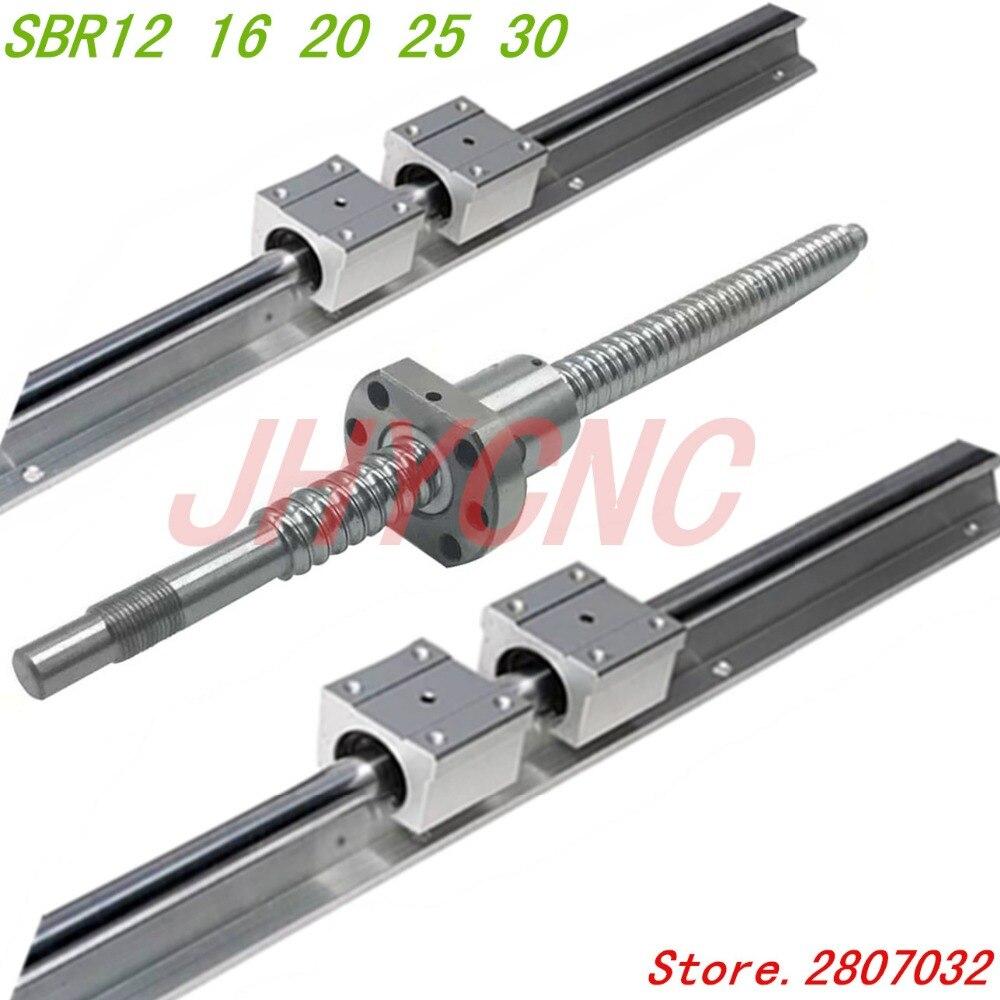 16mm linéaire rail SBR16 300mm 2 pcs et 4 pcs SBR16UU roulement linéaire blocs pour cnc pièces 16mm linéaire guide