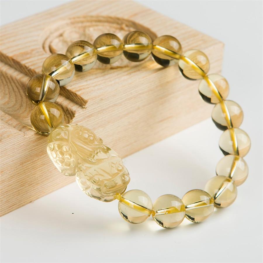 10mm Natural Genuine Quartz Crystal Bracelets Powerful Transparent Stretch Charm Round Bead Bracelet genuine yellow natural quartz crystal bracelets for women mens pixiu transparent charm stretch round bead bracelet