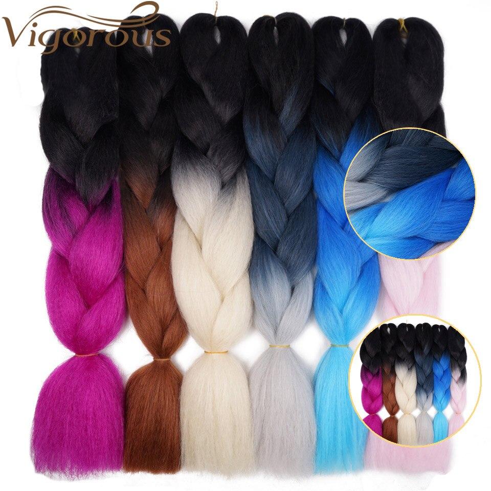 Extensões de cabelo cor-de-rosa cinza preto resistente ao calor